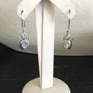 Jewelry - Sterling Silver and moonstone earrings